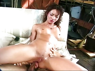 Asian pretty a beamy cock in her ass