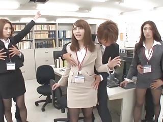 Time Stop on Secretary helter-skelter Office 3of4 censored ctoan
