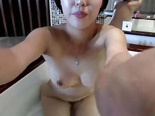 Petite Asian Beauty Takes Bath On Cam