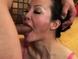 Lovely Oriental MILF has her holes rammed