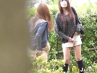 Kinky teen wets will not hear of pants