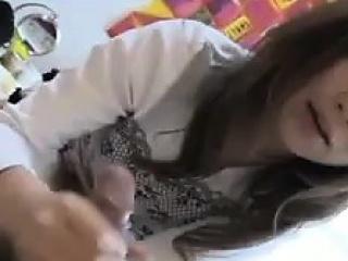 Asian teen pov blowjob