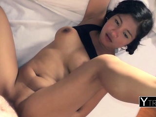 Handsome guy smashing a cute asian bitch take POV