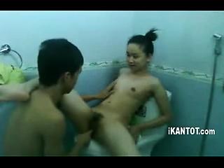 Vault asian charm slut piss shower