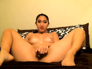 Hot Asian chick solo shower