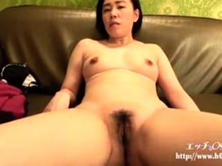Mamma Japanese hairy cunt fingering