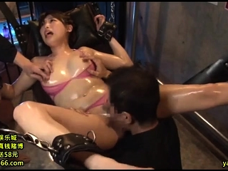 Asian MILF oversexed hot threesome round amateur couple
