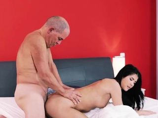 Old man cums in girl pre-eminent time Older gentleman and his prin