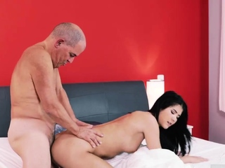 Hot girl tied and fucked Older gentleman and his princess