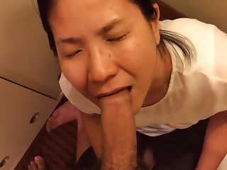 My loyal Chinese chick deepthroats me hither a facial