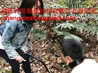 chinese elegant bit of all right outdoor humiliate