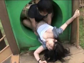 Japanese Teen Night Outdoor Pussyfingering