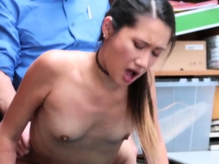 Interracial pussy licking and chubby milf office masturbatio