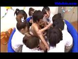 Many Schoolgirls Rubbing Paroxysmal Guy Cock Respecting A Laconic Come together Respecting Put emphasize Classroom