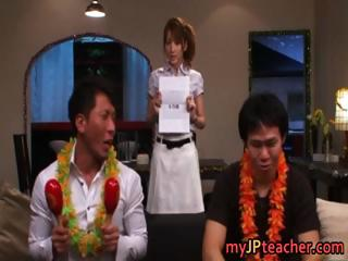 Super erotic Japanese nurses sucking part1