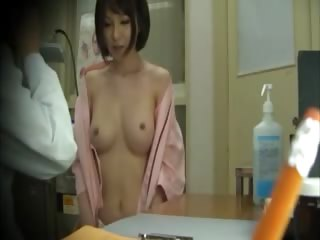Horny asian gets tits extensively for her doctor and loves it