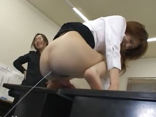 Asian secretary from asian almost ass milk