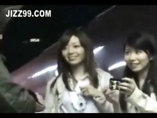cute twin adolescence invaded in train room 01